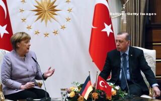 Recep Erdogan, Angela Mekel