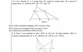 Evaluare Nationala 2017 matematica