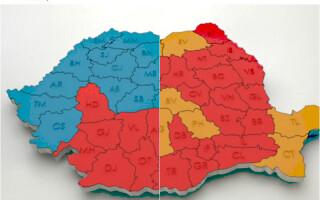 harta electorala romania 2014 2004