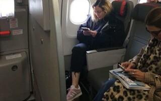 madonna in avion