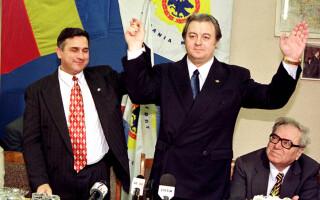 Corneliu Vadim Tudor si Gheorghe Funar in 1999