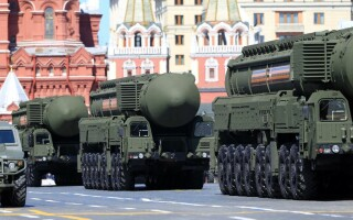 Rakets Victory Day Parade in the Kremlin
