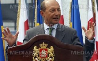 Traian Basescu, la serbarile nationale de la Tebea