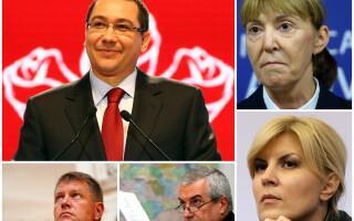 Victor Ponta, Klaus Iohannis, Elena Udrea, Monica Macovei