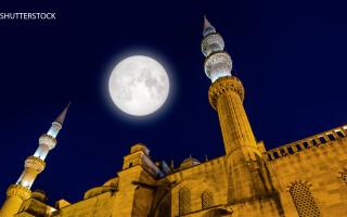 Moscheea Albastra din Istanbul noaptea