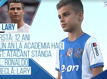 Campionii viitorului | Are sansa de a se lansa la echipa lui Hagi, dar vrea sa ajunga la nivelul lui Ronaldo. Pustiul cu care Romania merge la Cupa Natiunilor Danone