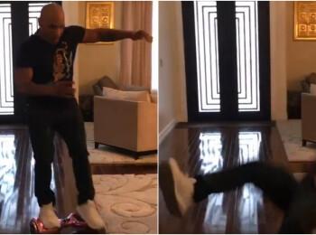 Sunt prea batran pentru asa ceva :) Durul Mike Tyson a pierdut lupta cu tehnologia: un hoverboard l-a invins