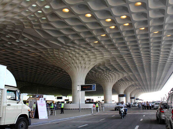 Mumbai airport terminal inspired by dancing peacock