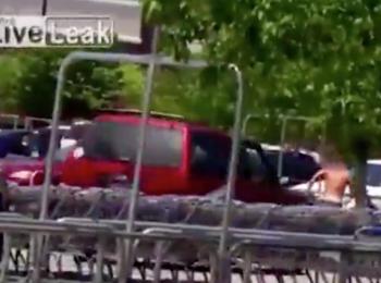 O femeie insarcinata a lovit cu masina un hot care ii furase geanta! Ce s-a intamplat cateva clipe mai tarziu