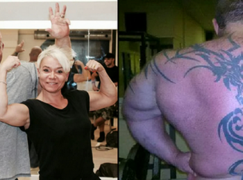 Omul cu cei mai mari bicepsi din Marea Britanie. Mananca 10.000 calorii pe zi si are o masa la fiecare 90 de minute