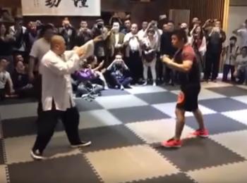 Un luptator de MMA sau un practicant de Tai Chi?! Lupta incheiata brutal: VIDEO