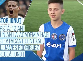 Campionii Viitorului | A marcat in finala nationala, vrea gol si in cea MONDIALA. Pustiul cu care Academia Hagi va ataca la Cupa Natiunilor Danone, sub ochii lui Zidane