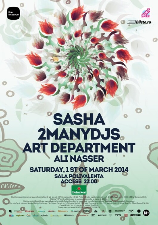 The Mission - Sasha, 2manydjs, Art Department, Ali Nasser