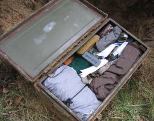 Cufarul unui soldat german din cel de-al II-lea razboi mondial, dezgropat in Rusia. Ce a fost gasit in el