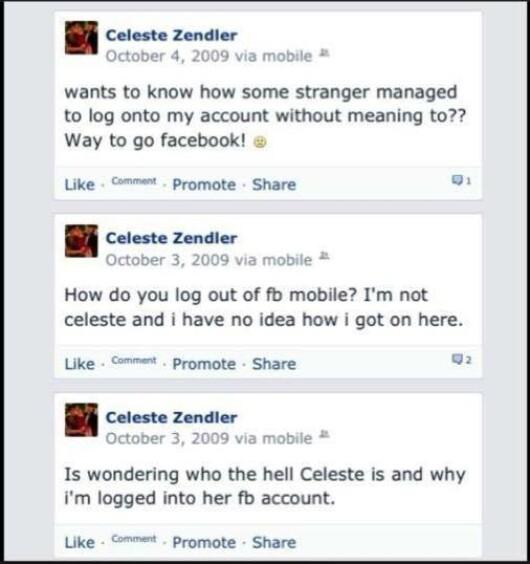 A descoperit ca cineva s-a logat pe contul lui de Facebook