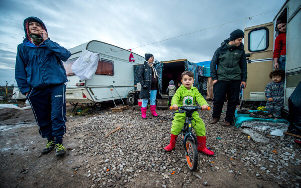 craciun in Jungla de langa Calais