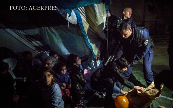 raid al politie franceze intr-o tabara de migranti