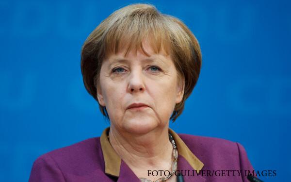 Angela Merkel nervoasa