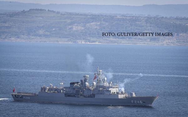 nava militara turca la Cannakale