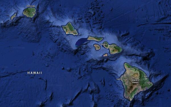 harta arhipelagul Hawaii