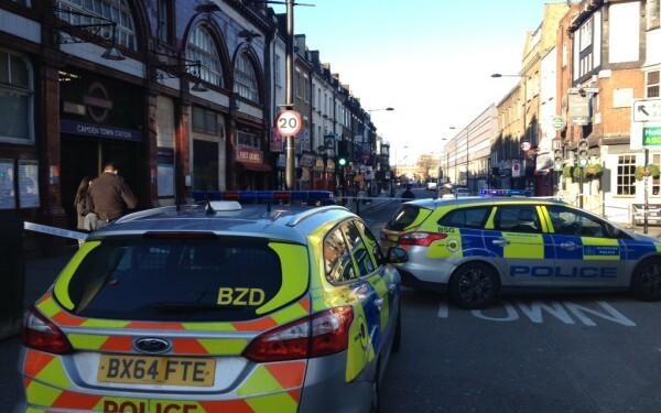 politie in Camden, Londra