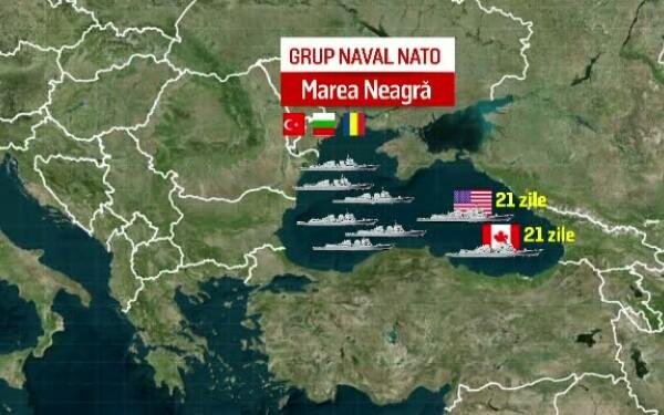 Animatie flota de nave in Marea Neagra