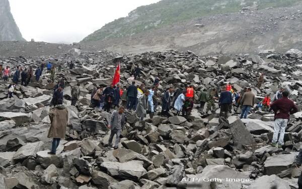 alunecare de teren in China, AFP