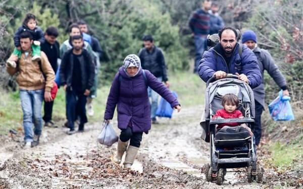 refugiati, granita macedoania - grecia