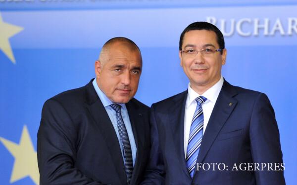 Boiko Borisov, premierul Bulgariei, si Victor Ponta