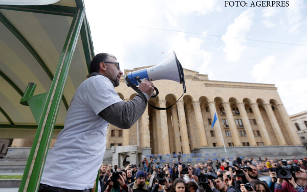 proteste in Tbilisi dupa aparitia unor inregistrari compromitatoare