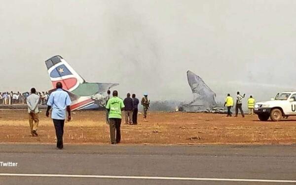 Avion prabusit in Sudanul de Sud