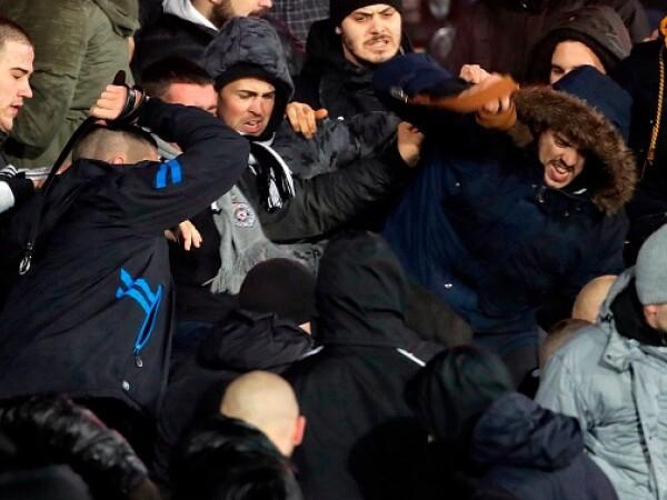 Violențe între suporterii echipelor Partizan și Steaua Roșie Belgrad