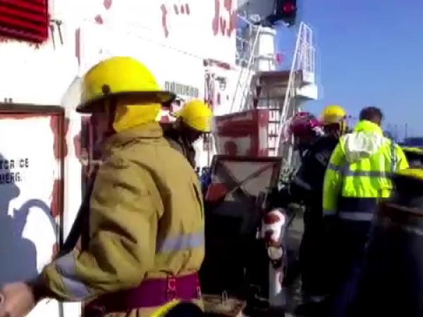 incendiu, nava, port, constanta