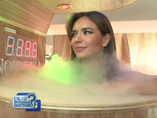 Magda Palimariu la crio-sauna