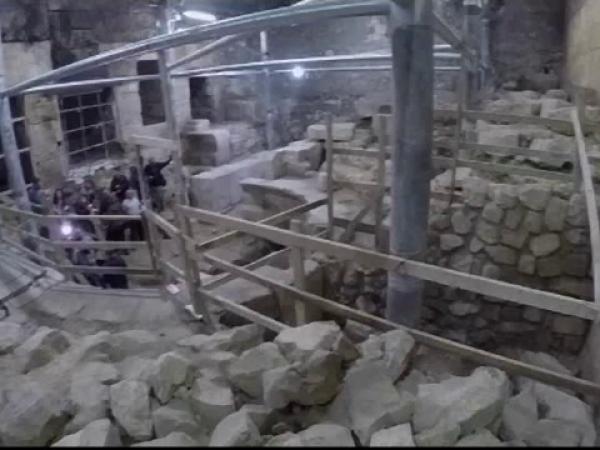 arheologi, ierusalim, zidul plangerii, amfiteatru roman,