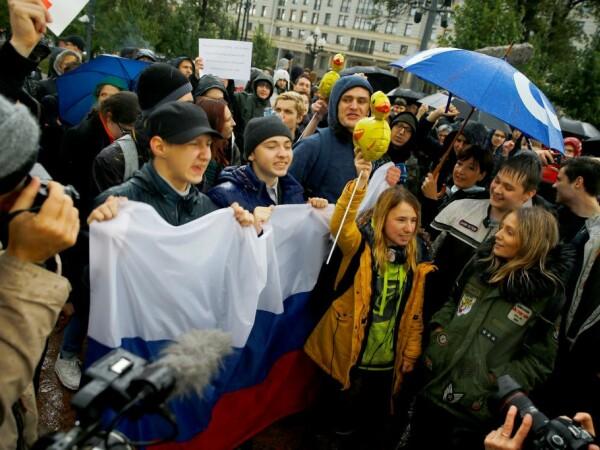 Protest de ziua lui Putin