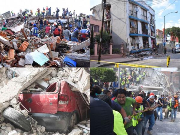 cutremur in Mexic colaj