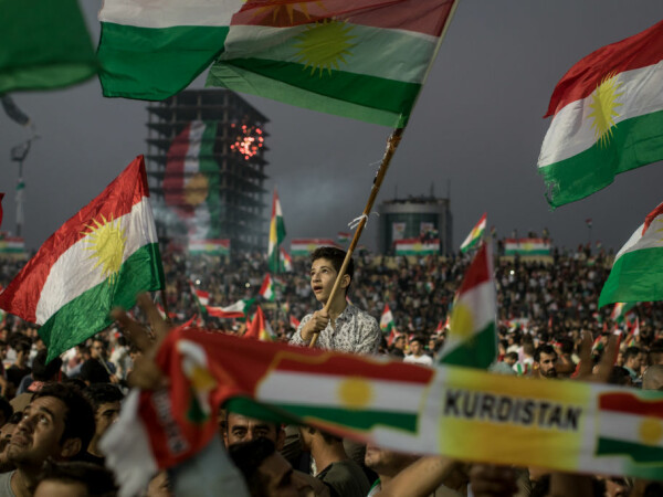 miting pro-indepedenta al kurzilor din Irak