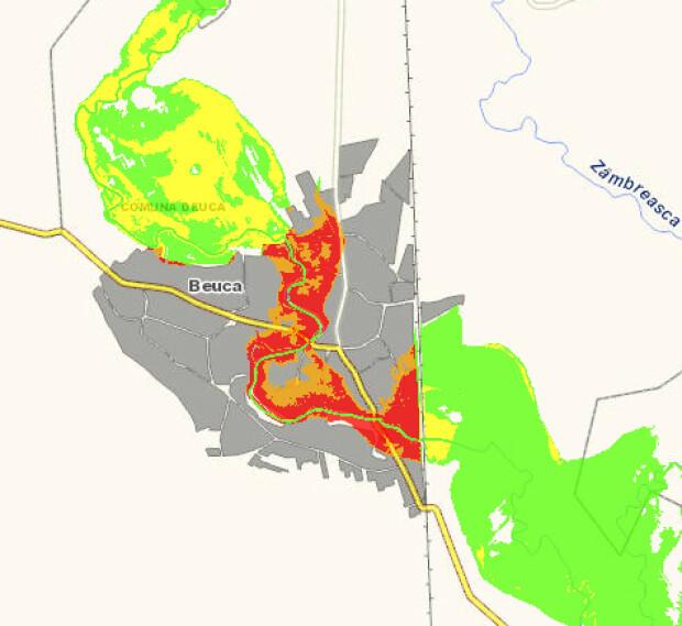 harta risc inundatii Beuca