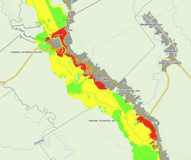 harta risc inundatii Tatarasti