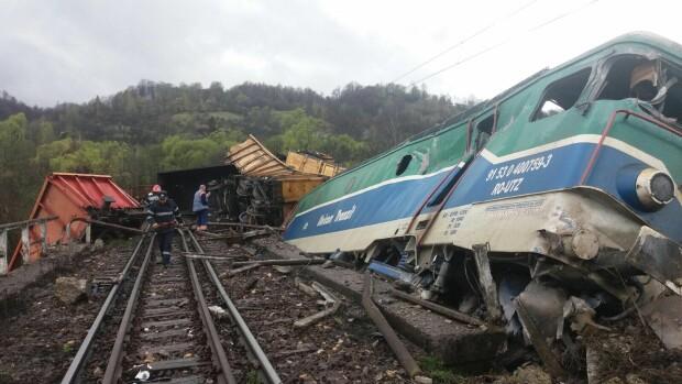 accident feroviar Merisor