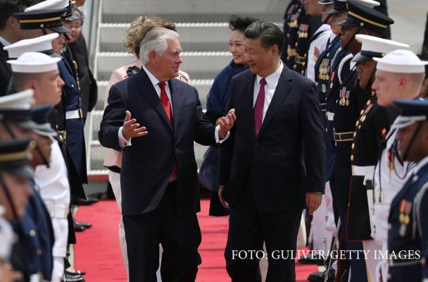 Rex Tillerson si Xi Jinping