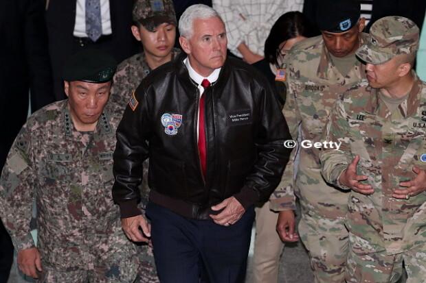 Coreea de Nord, Coreea de Sud, Mike Pence