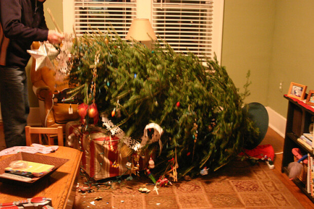 What can you spray on christmas tree to keep cats away