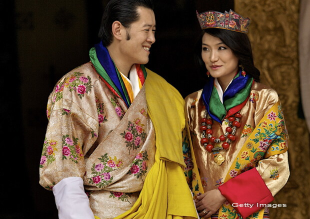 Regele si regina Bhutanului