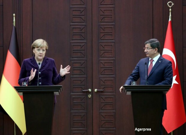 Vizita a Angelei Merkel in Turcia