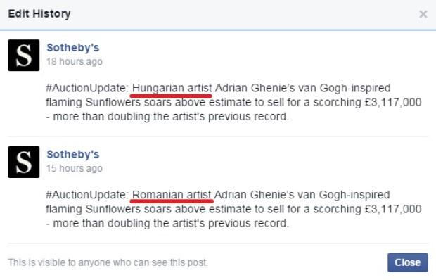 Ghenie, Sothebys