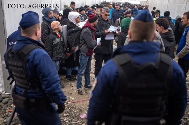 politia maghiara opreste refugiatii