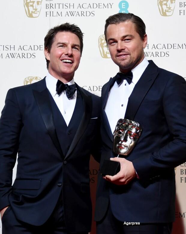 Premiile Bafta - Leonardo di Caprio si Tom Cruise