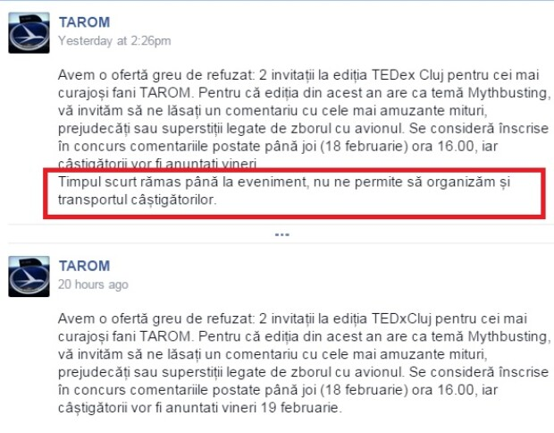 TAROM, concurs